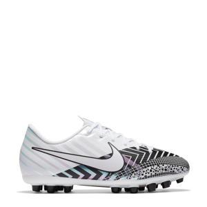 Mercurial Vapor 13 Academy MDS AG Jr. voetbalschoenen wit/zwart/lichtblauw