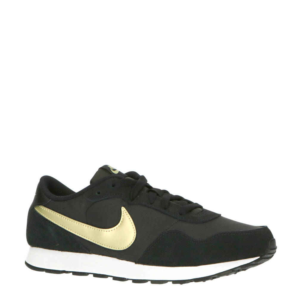 Nike MD Valiant (GS) sneakers zwart/goud/wit, Zwart/goud/wit