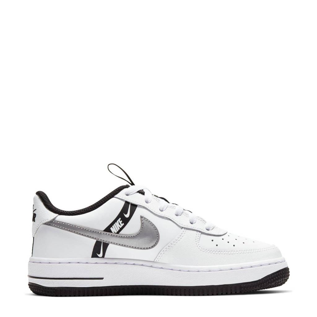 Nike  Air Force 1 LV8 sneakers wit/zwart/zilver, Wit/Zwart/Zilver