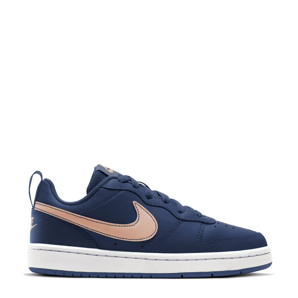 Nike Court Borough Low 2 (GS) leren sneaker donkerblauw/brons