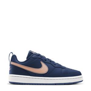 Court Borough Low 2 (GS) leren sneaker donkerblauw/brons