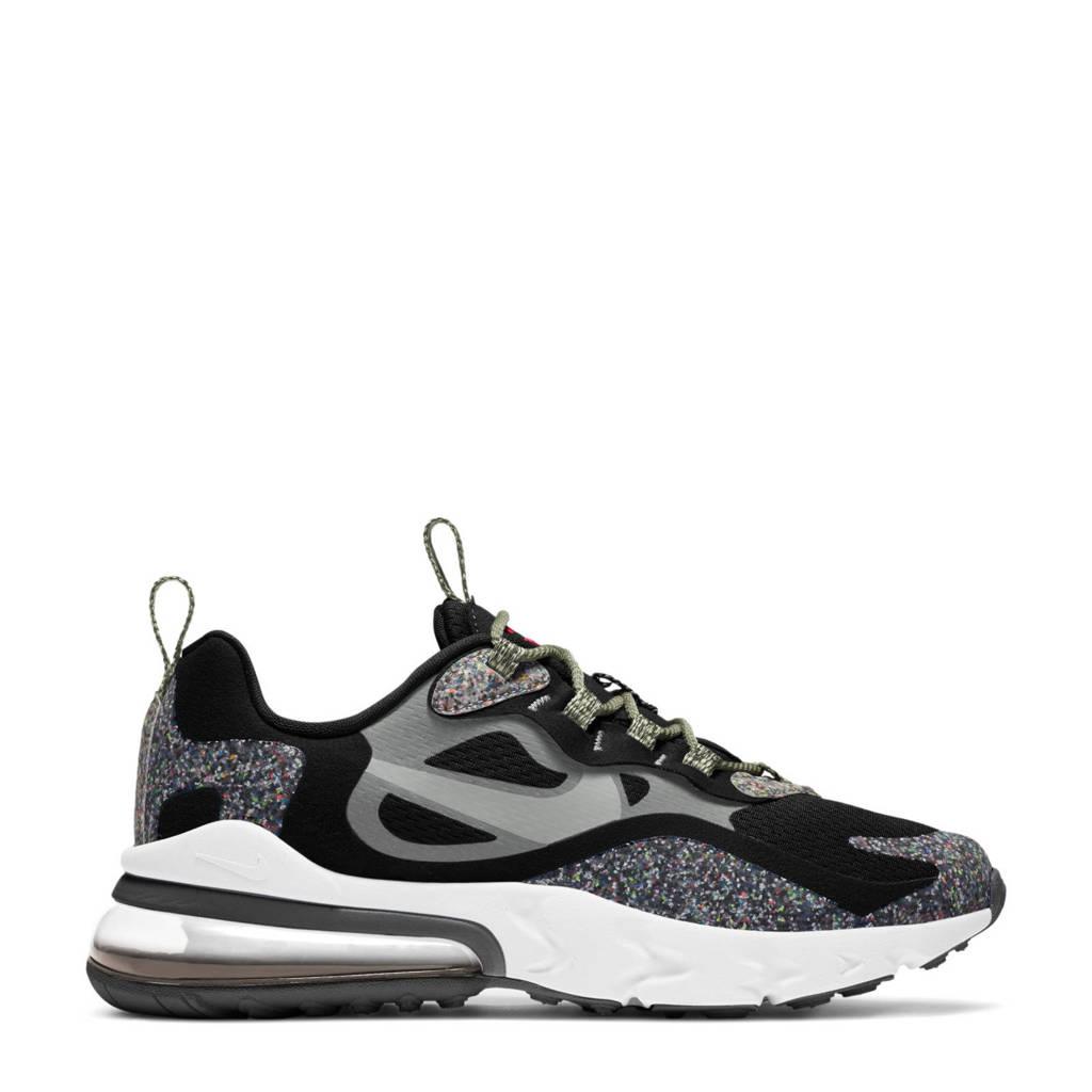 Nike Air Max  270 React SE (GS) sneakers zwart/grijs, Zwart/grijs