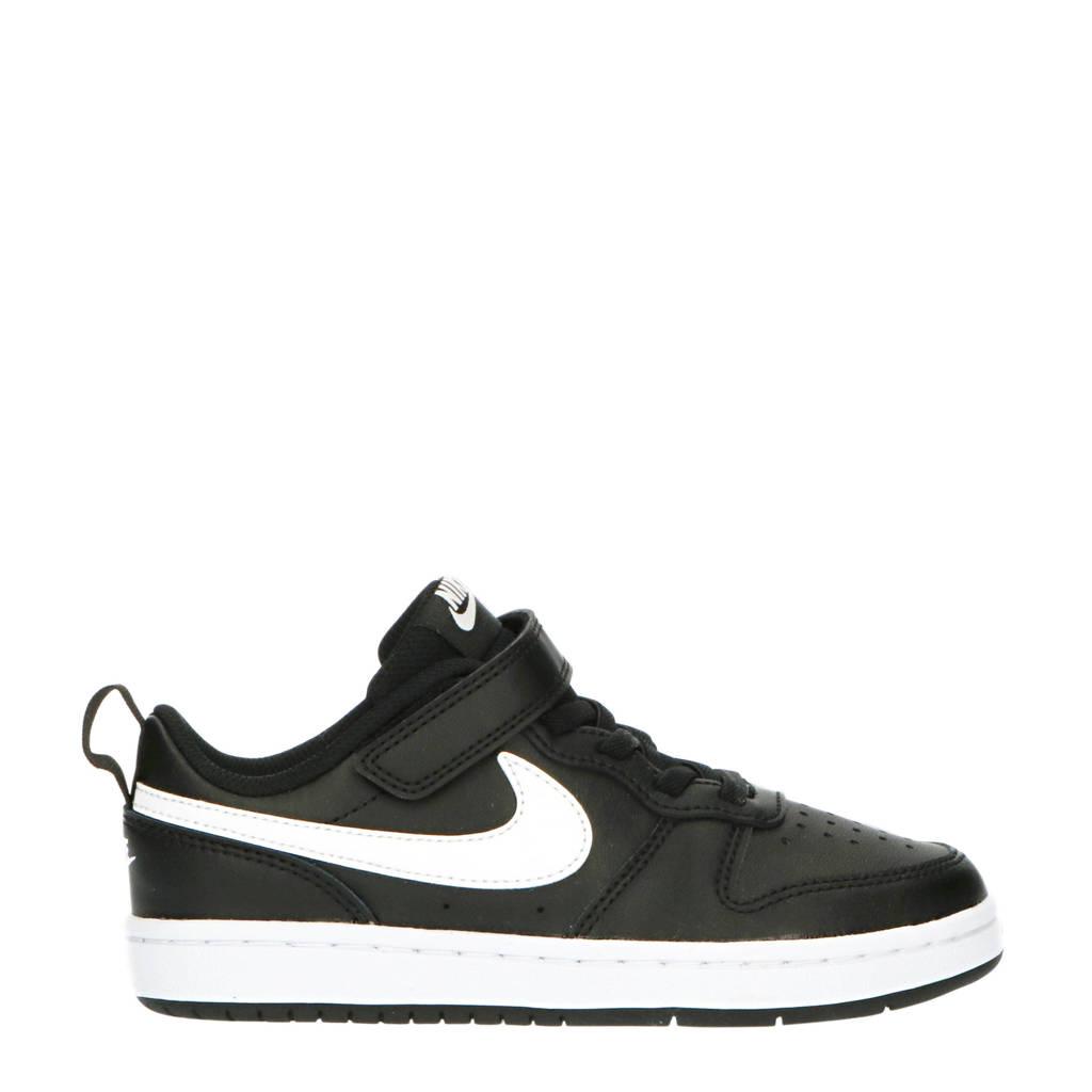 Nike Court Borough Low 2  sneakers zwart/wit, Zwart/wit