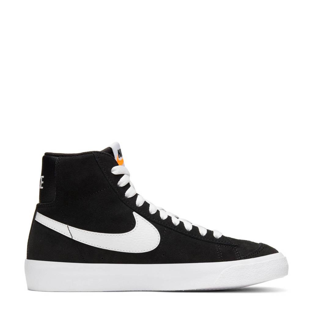 Nike Blazer Mid '77 Suede (GS) sneakers zwart/iwt, Zwart/wit