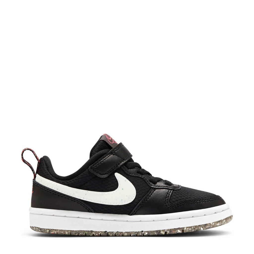 Nike Court Borough Low 2 (PSV) sneakers zwart/wit, Zwart/wit