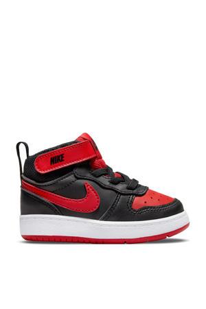 COURT BOROUGH MID 2 (TDV) leren sneakers zwart/rood