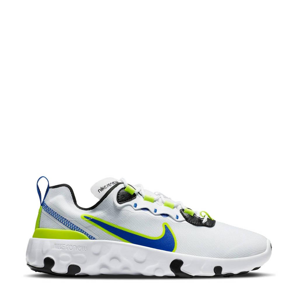 Nike RENew Element 55 (GS) sneakers wit/blauw/geel, Wit/blauw/geel
