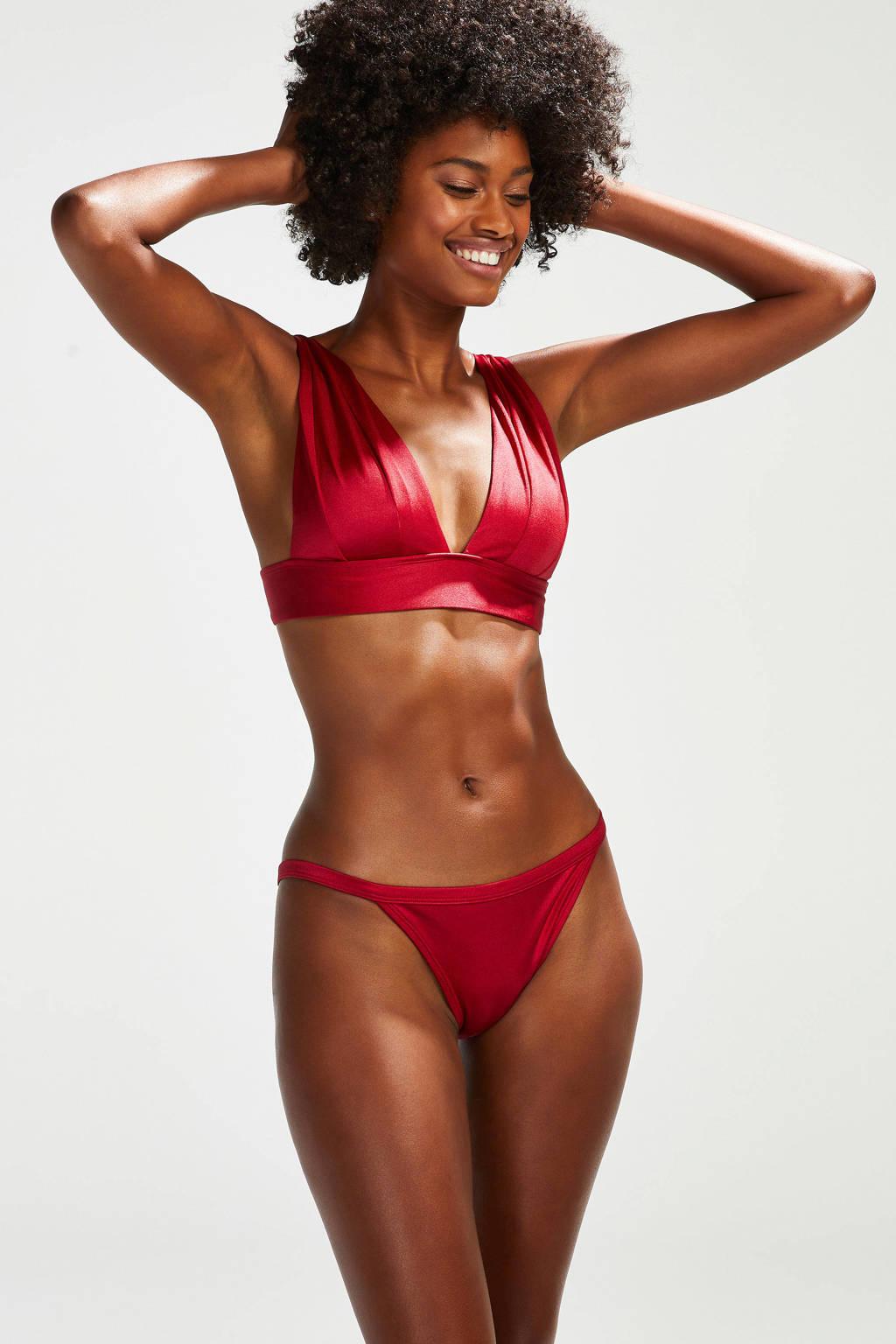 Hunkemöller bikinibroekje Lola rood, Rood