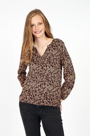 blouse met biologisch katoen paars