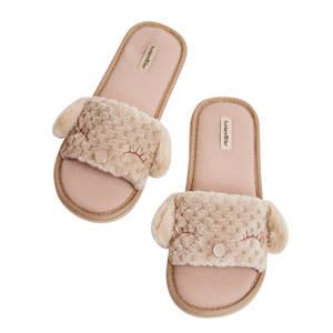 huisslippers Dog beige