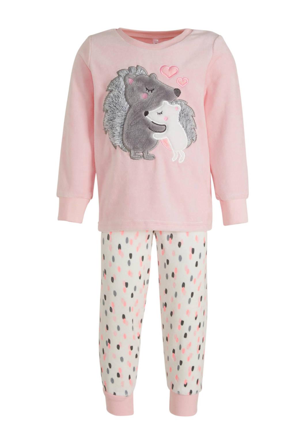 C&A Palomino pyjama roze/ecru, Roze/ecru