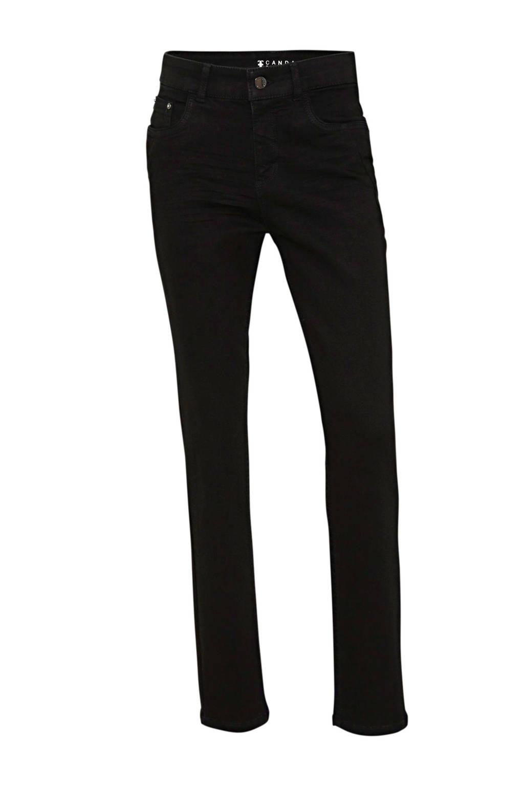 C&A high waist slim fit jeans zwart, Zwart