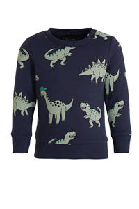 C&A sweater met dierenprint donkerblauw/groen, Donkerblauw/groen