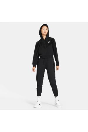 velours joggingbroek met logo zwart