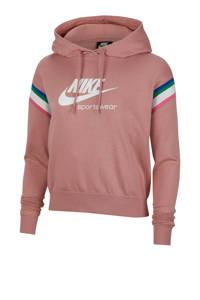 Nike Hoodie roze/wit, Roze/wit