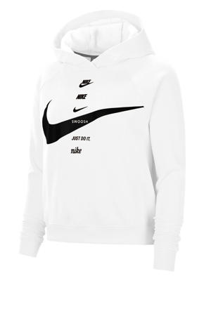 hoodie wit/zwart