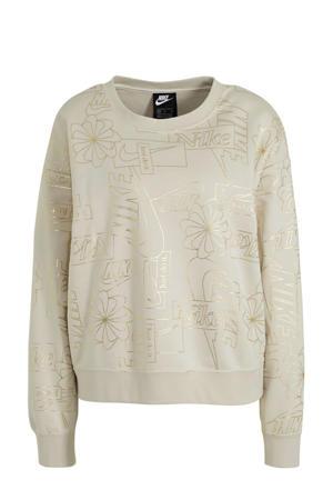 sweater ecru/goud