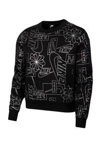 Nike Sweater zwart/zilver, Zwart/zilver