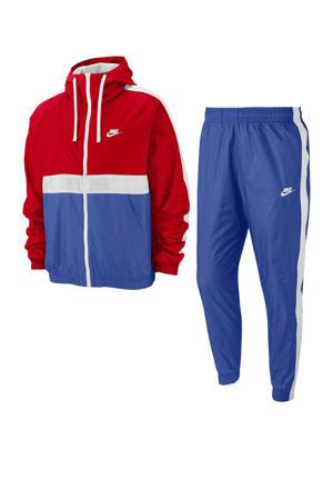 trainingspak rood/wit/blauw