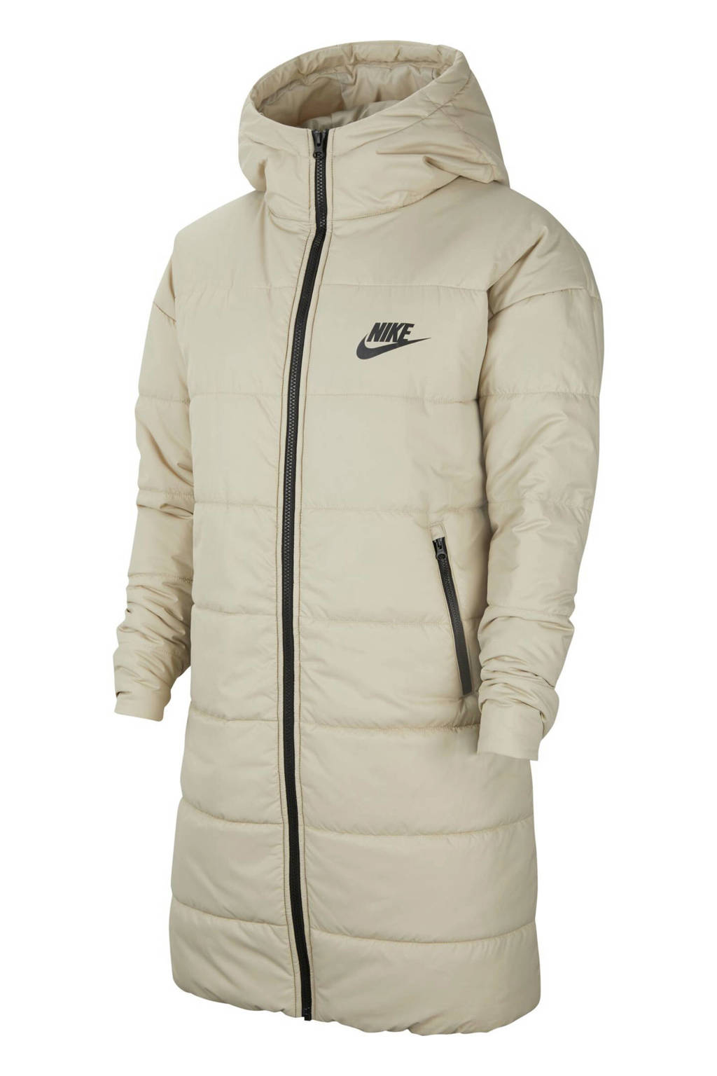 Nike gewatteerde jas beige, Beige