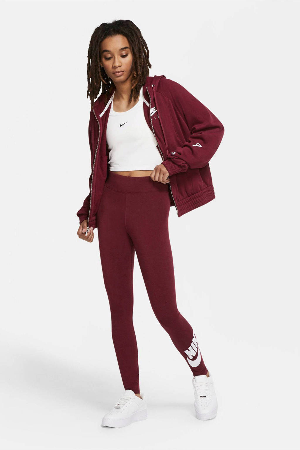 Nike legging donkerrood, Donkerrood