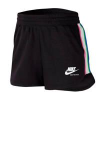 Nike Sweatshort zwart/roze/wit, Zwart/roze/wit