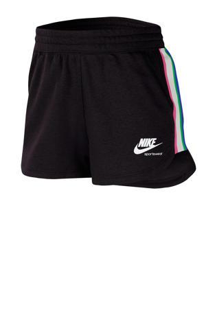 Sweatshort zwart/roze/wit