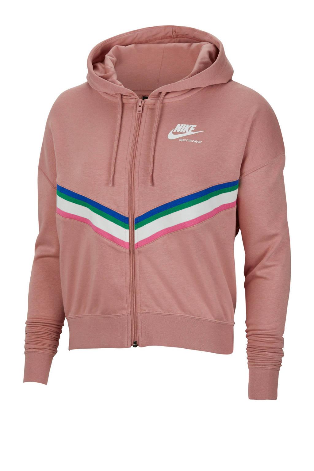 Nike sweatvest oudroze, Oudroze