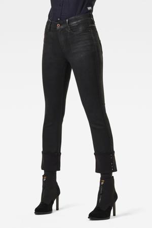 Noxer high waist straight fit jeans zwart