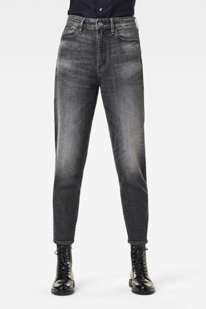 Janeh cropped high waist mom jeans met biologisch katoen faded basalt