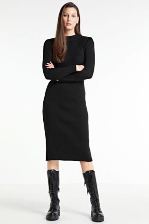 jurk Lynn van gerecycled polyester 8299/dk black/dk black