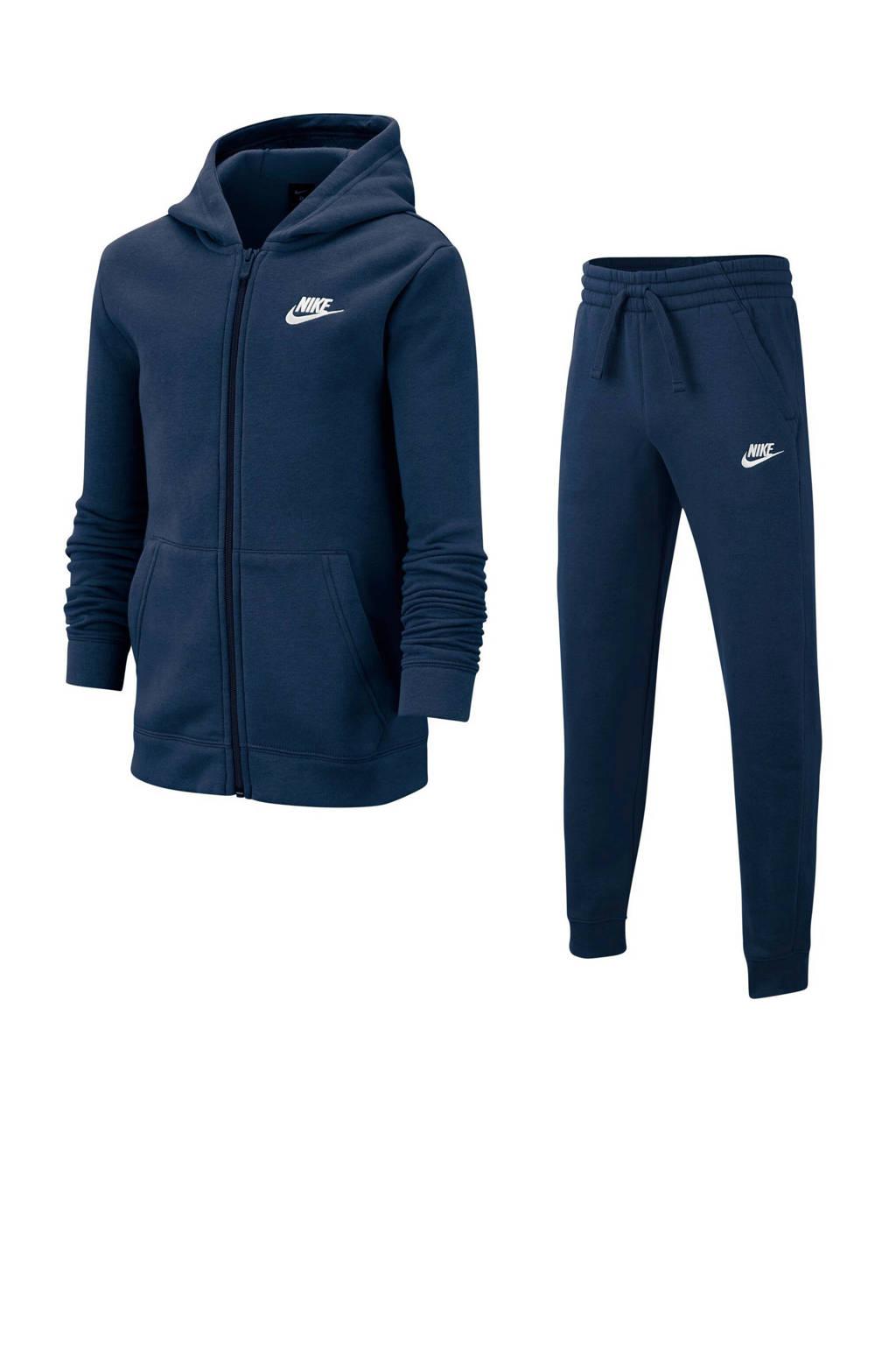 Nike   trainingspak donkerblauw, Donkerblauw/wit
