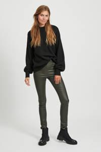 VILA gebreide trui Hanna van gerecycled polyester zwart, Zwart