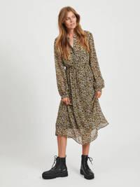 VILA maxi jurk Fimi met all over print zwart/multi, Zwart/multi