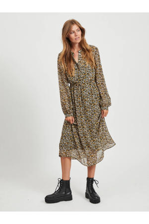 maxi jurk Fimi met all over print zwart/multi