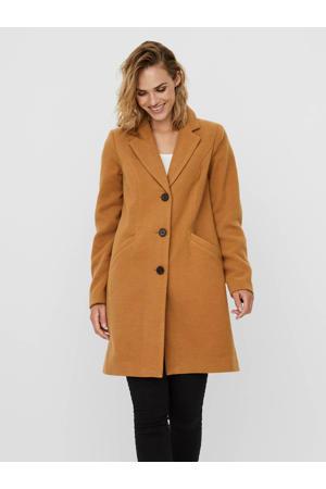 coat met reverskraag camel