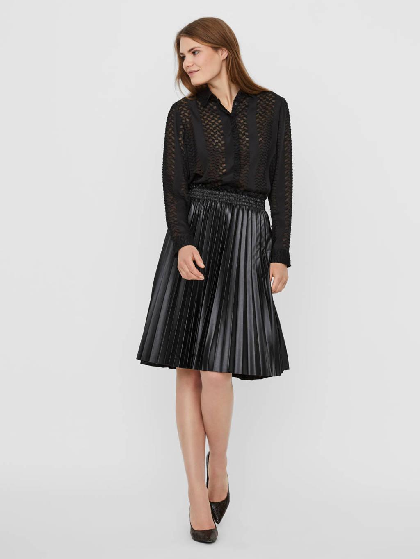 VERO MODA plissé rok zwart, Zwart