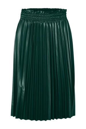 plissé rok groen
