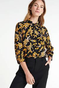 VERO MODA blouse met all over print oranje/zwart, Oranje/zwart