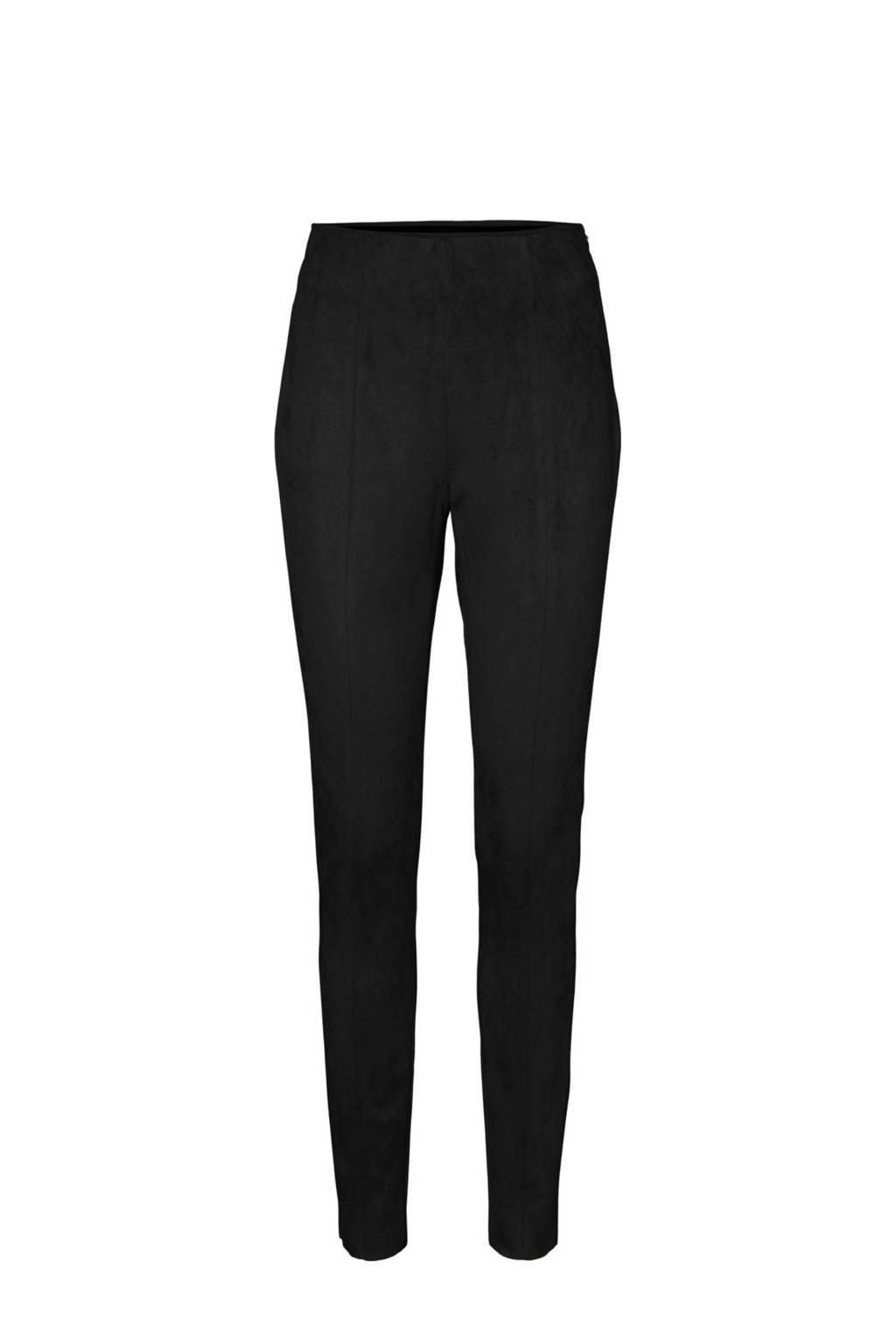 VERO MODA imitatiesuède legging zwart, Zwart