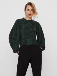 VERO MODA blouse met all over print groen, Groen