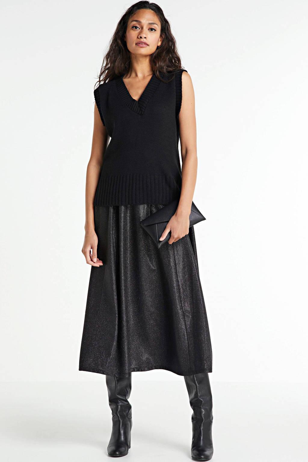 ONLY rok zwart met glitters, Zwart