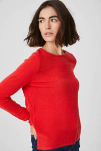 C&A Canda kasjmier fijngebreide wollen trui rood, Rood