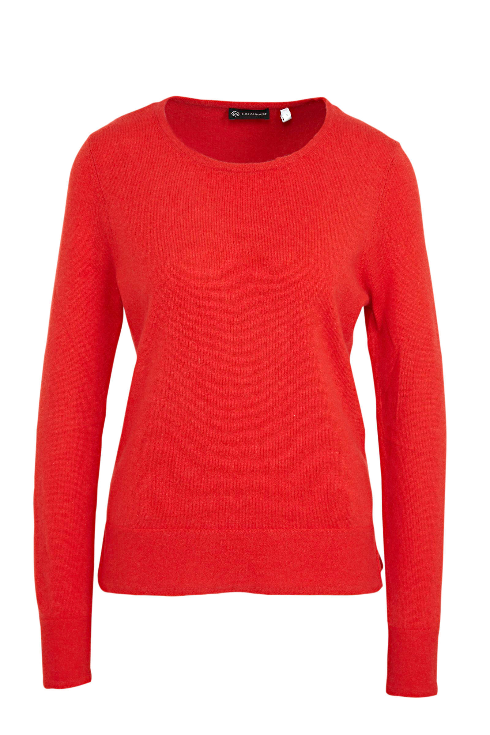 C&A Canda kasjmier fijngebreide wollen trui rood | wehkamp