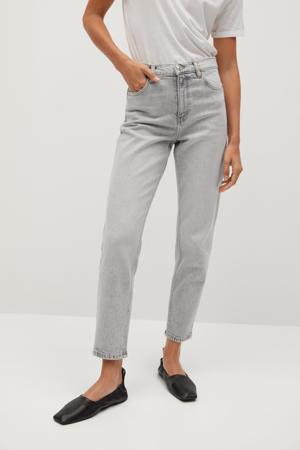 high waist slim fit jeans lichgrijs