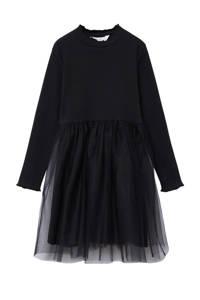 Mango Kids A-lijn jurk zwart, Zwart