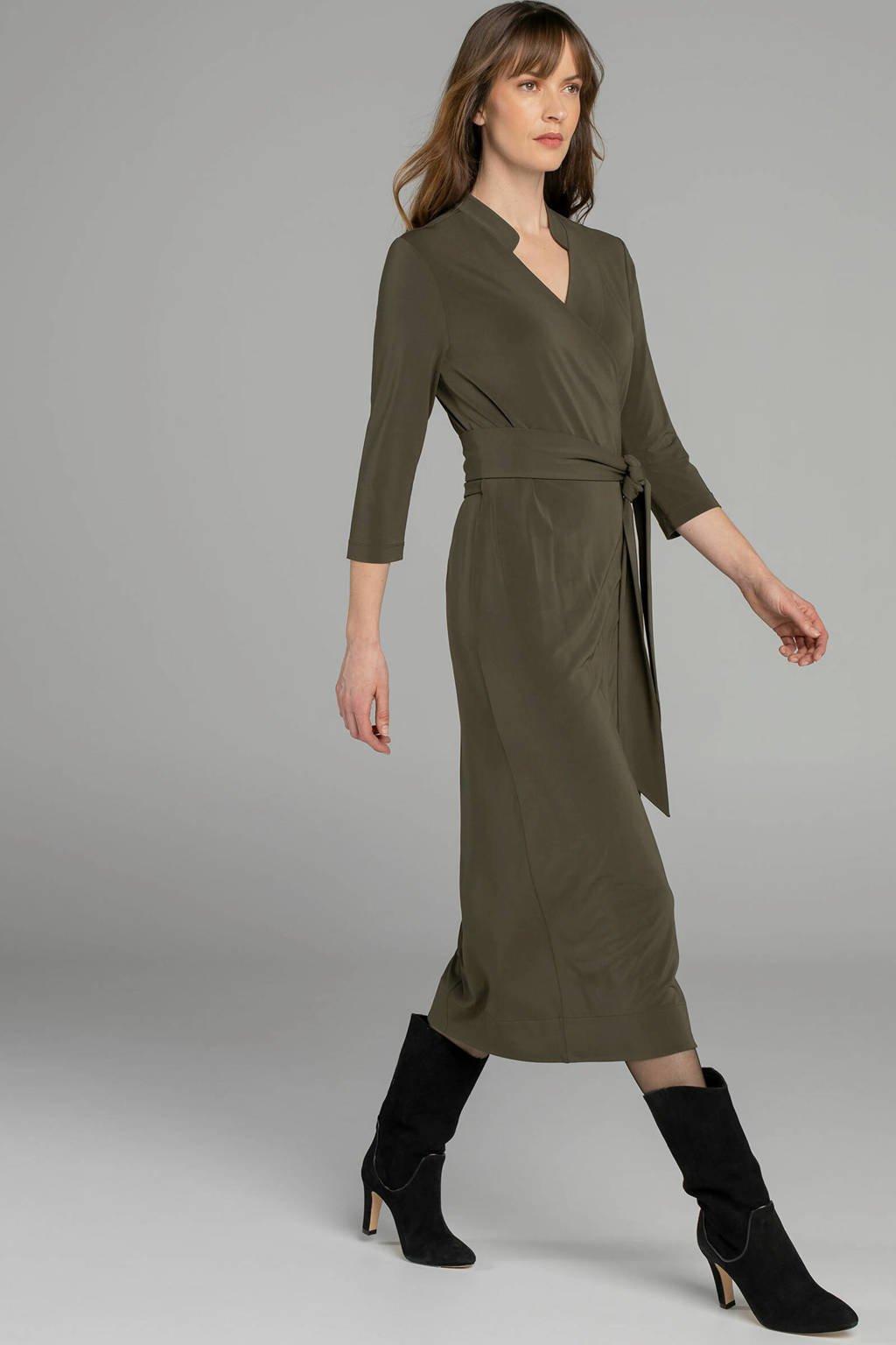 Claudia Sträter blousejurk groen, Groen