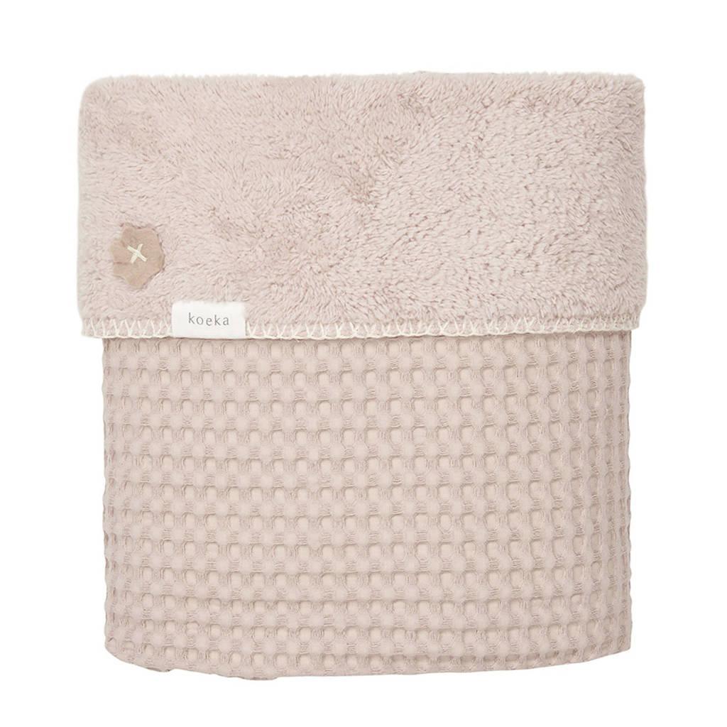 Koeka Oslo baby ledikantdeken 100x150 cm grey pink/grey pink, Oudroze