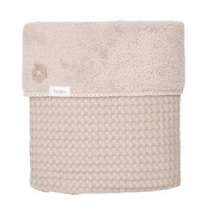 Oslo baby ledikantdeken teddy 100x150 cm grey pink/grey pink