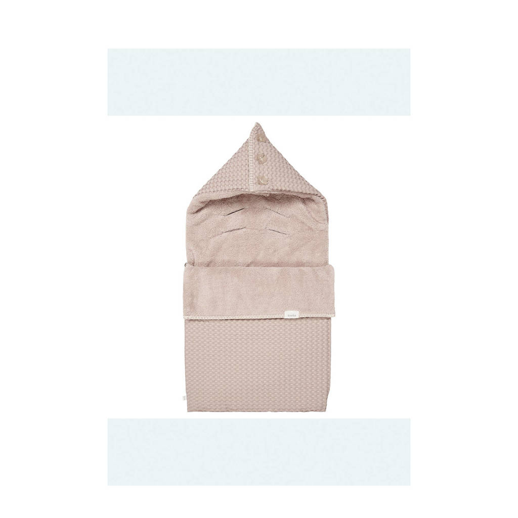 Koeka Oslo voetenzak teddy (3-5 puntsgordel) grey pink/grey pink, Oudroze